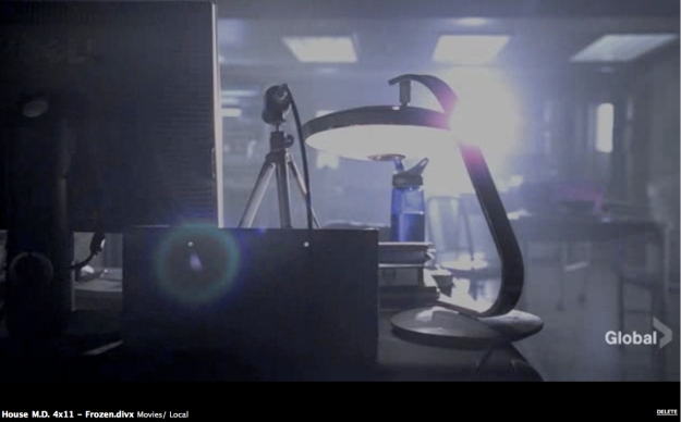 "Fase 520c lamp in TV series House M.D., episode 4x11, ""Frozen""."