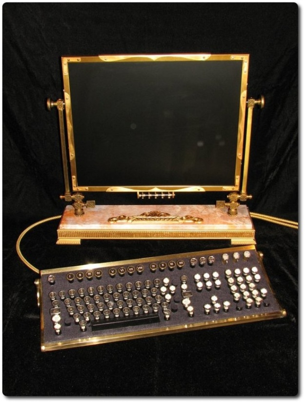 Steampunk'd desktop computer